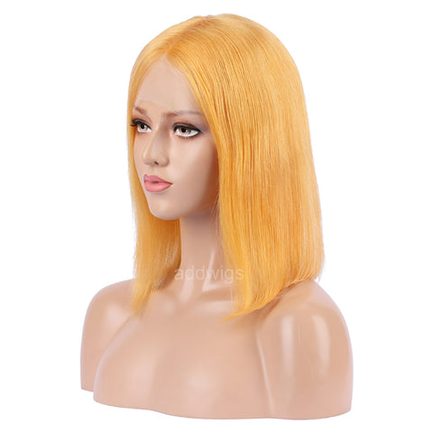 Papaya Hot Selling Human Hair Bob Wig 2020 Summer Colorful Lace Wigs