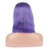 Lavender Human Hair Fashion Bob Wigs 2020 Summer Colorful Lace Wigs