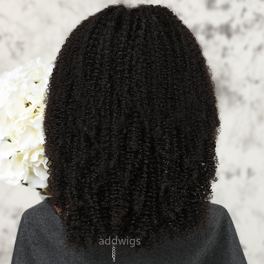 Afro Kinky Curly Lace Front Wig 100% Real Human Hair For ...
