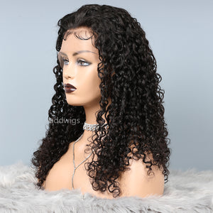 Fashion Curly Silk Top Human Hair Wigs For Black Women