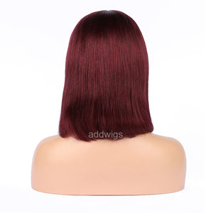 99j Human Hair Fashion Bob Wig 2018 Summer Colorful Lace Wigs