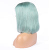 Mint Teal Human Hair Fashion Bob Wig 2018 Summer Colorful Lace Wigs