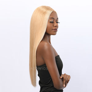 Ayanna Remy Hair Glueless Lace Front Wigs Color #12 Highlight