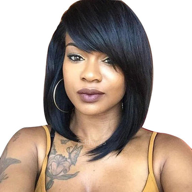 Side Part Short Bob Human Hair Wigs
