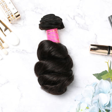 2 Bundles With Lace Frontal Malaysian Human Hair Loose Wave Hair Weave With Frontal