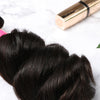 4 Bundles With Lace Frontal Malaysian Human Hair Loose Wave Hair Weave With Frontal