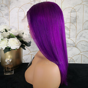 Paulina Remy Hair Full Lace Wigs Purple