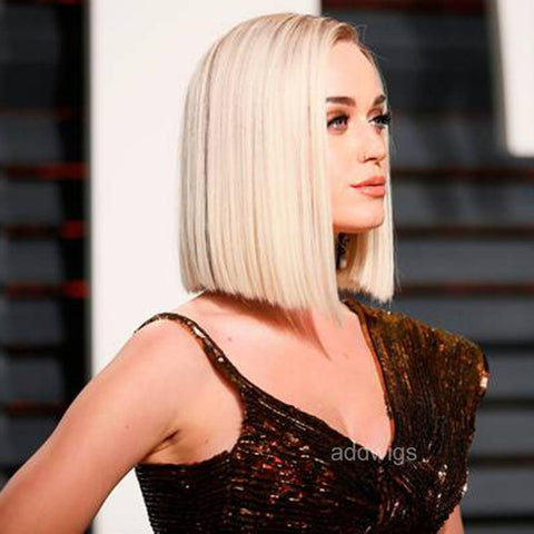 Katy Perry Celebrity Customized Wigs Human Hair Lace Wig