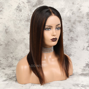 Tashia HD Lace Virgin Hair Lace Front Wigs Balayage (#1BT4H30)