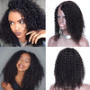 Kinky Curly U Part Wig Human Hair 1*4 Right Side Part Upart Wigs
