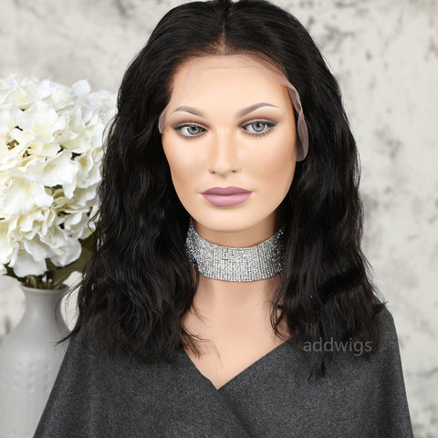 Short Wavy Human Hair Wigs Best Sale Lace Front Short Bob Wigs