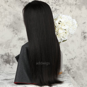 Yaki Straight Full Lace Wig Medium Yaki Texture