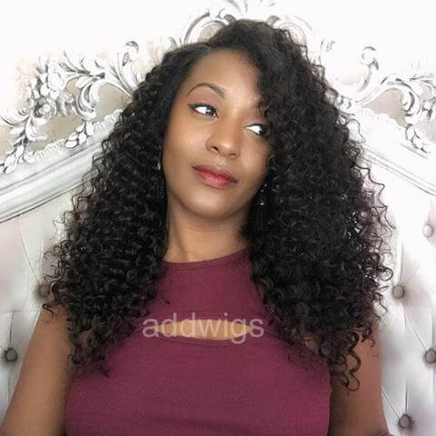 ... Fashion Tight Curly Human Hair African American Wigs For Black Women ... 8c5c67db96