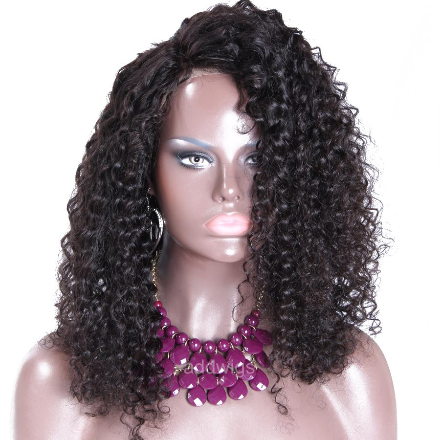 Unprocessed Human Hair Tight Curly Wig Uk African American
