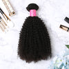 3 Bundles With Lace Frontal Malaysian Human Hair Afro Kinky Curly Hair Weave With Frontal