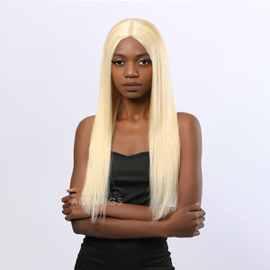 Benita Remy Hair Glueless Lace Front Wigs #613 Honey Blonde