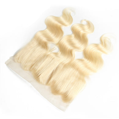 13x4 Lace Frontal #613 Blonde Human Hair Body Wave