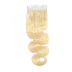 4x4 Lace Closure #613 Blonde Human Hair Body Wave