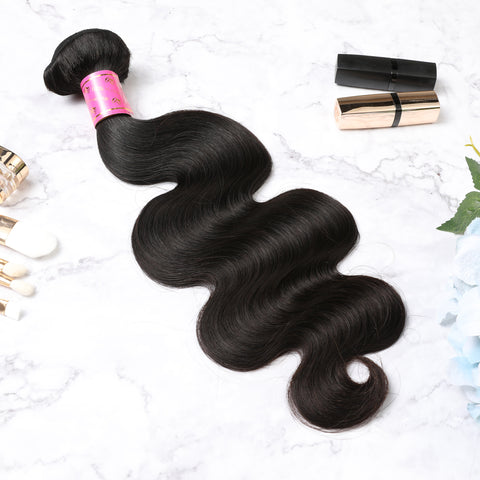 4 Bundles With Lace Frontal Malaysian Human Hair Body Wave Hair Weave With Frontal