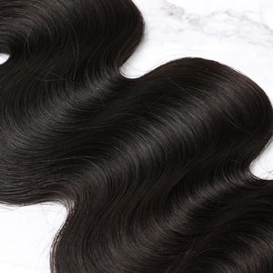 3 Bundles With Lace Frontal Malaysian Human Hair Body Wave Hair Weave With Frontal