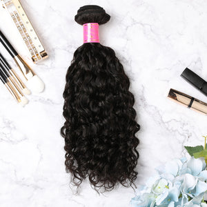 3 Bundles With Lace Frontal Malaysian Human Hair Curly Hair Weave With Frontal
