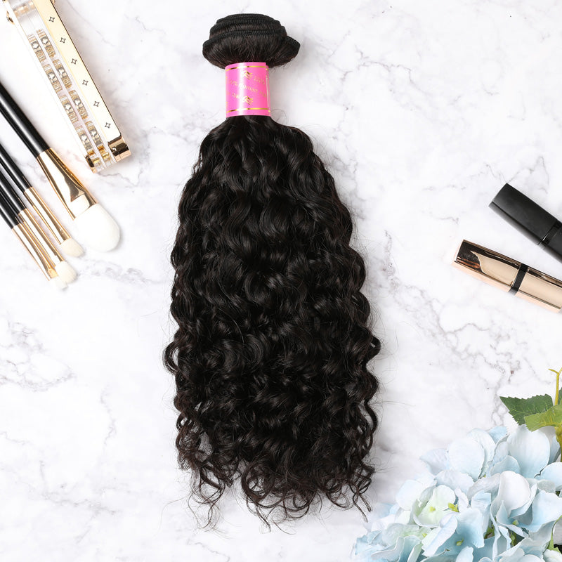 2 Bundles With Lace Closure Malaysian Human Hair Curly Hair Weave With Closure