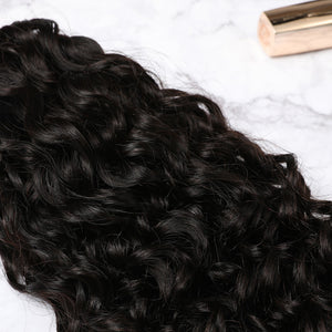 4 Bundles With Lace Frontal Malaysian Human Hair Curly Hair Weave With Frontal