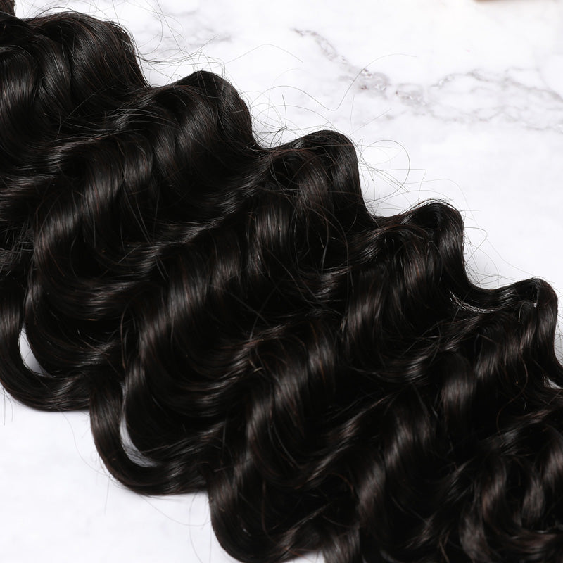 13x4 Lace Frontal Malaysian Human Hair Deep Curly