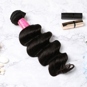 4 Bundles With Lace Closure Malaysian Human Hair Deep Wave Hair Weave With Closure