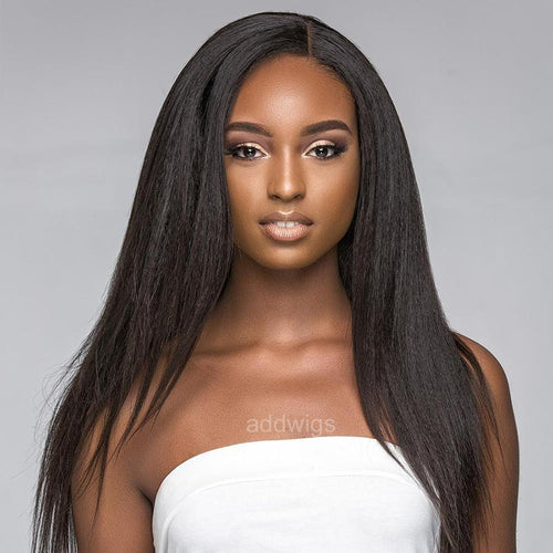 Straight Light Yaki Full Lace Wigs for Black Women