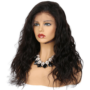 Wavy Full Lace Wig 100% Human Hair Lace Wigs With Natural Hairline