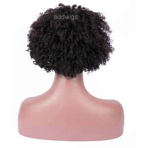 Afro Kinky Curly Full Lace Human Hair Wigs With Baby Hair For Black Women