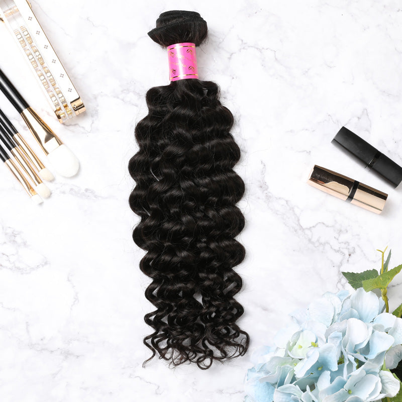 Hair Weave 4 Bundles Deal Malaysian Human Hair Jerry Curl
