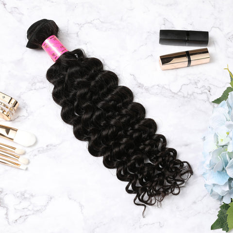 3 Bundles With Lace Closure Malaysian Human Hair Jerry Curl Hair Weave With Closure