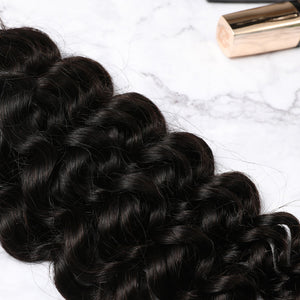 2 Bundles With Lace Closure Malaysian Human Hair Jerry Curl Hair Weave With Closure