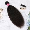 3 Bundles With Lace Closure Malaysian Human Hair Kinky Straight Hair Weave With Closure