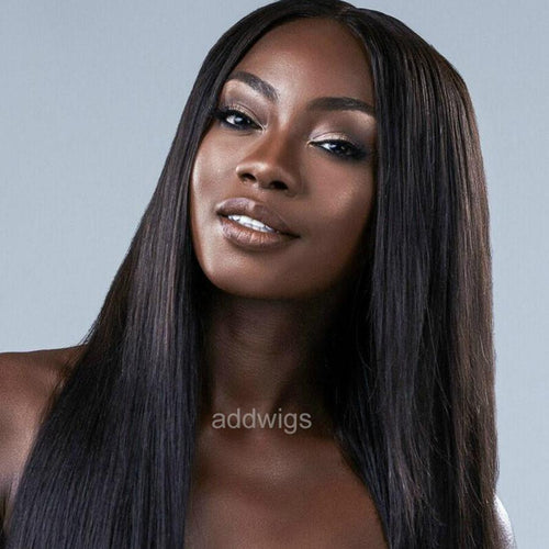Middle Part Full Lace Wigs Silk Straight Human Hair Wigs