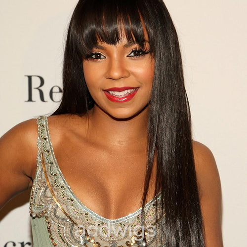 Lace Front Wigs Silk Straight With Bang 13*6