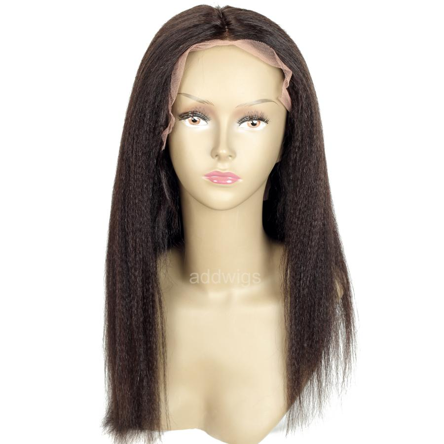 d8cfbf0e5 Straight Light Yaki Lace Front Wigs for Black Women UK 100% Human Hair