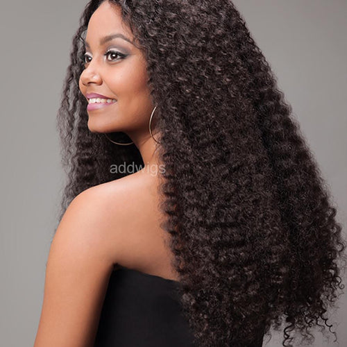 Afro Kinky Curly Lace Front Wigs Tight Afro Curly Hair For Black Women