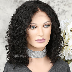 Best Selling Bob Curly 5x5 Inches Lace Closure Wig 100% Human Hair