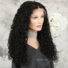 New Arrival Loose Curly Full Lace Wig Human Hair Wigs With Middle Parting