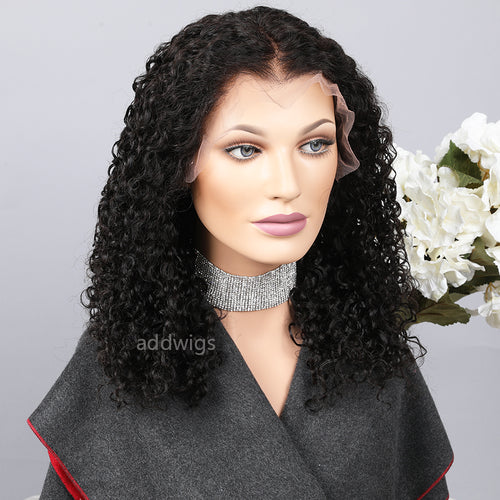 Pre-plucked Lace Front Wig Loose Curly Human Hair Lace Wigs