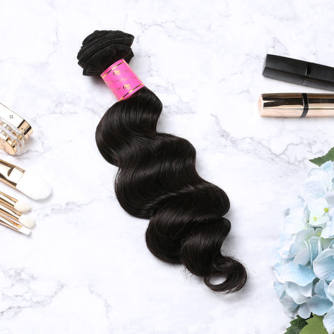 4 Bundles With Lace Closure Malaysian Human Hair Loose Deep Hair Weave With Closure