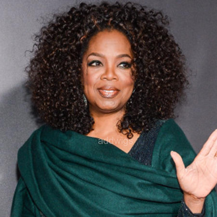 Curly Bob Oprah Celebrity Customized Wigs Uk Human Hair Lace Wig