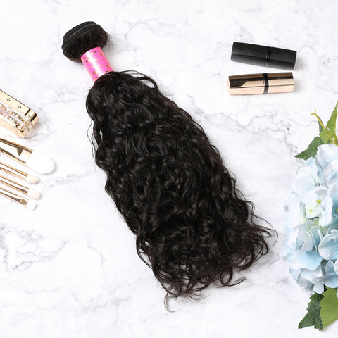 4 Bundles With Lace Closure Malaysian Human Hair Natural Curly Hair Weave With Closure