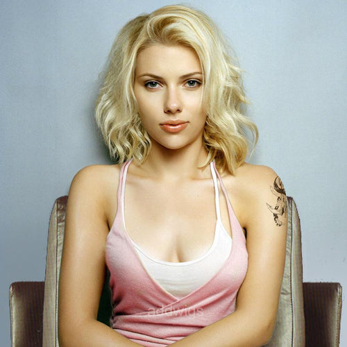 Scarlett Johansson Celebrity Customized Blonde Human Hair Lace Wig