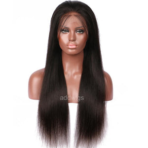 Straight Hair Silk Base Human Hair Lace Wigs