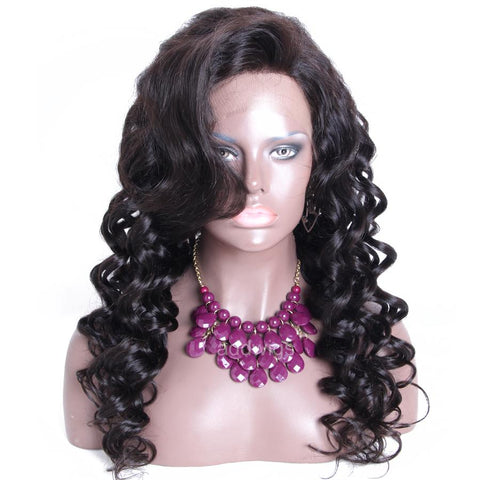 Silk Top Wig Tight Loose Wave Silk Base Human Hair Wigs