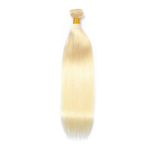 Hair Weave 4 Bundles Deal #613 Blonde Malaysian Human Hair Straight